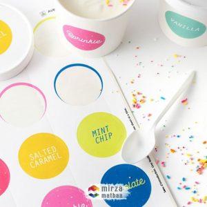 dondurma cup sticker